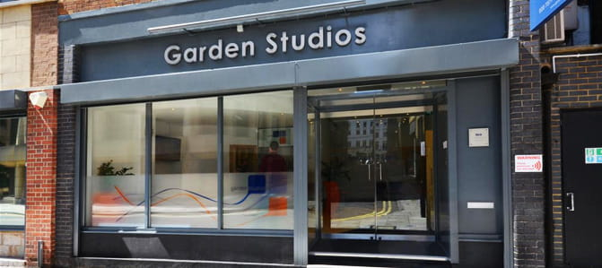 Exterior photograph of our Garden Studios offices in Covent Garden, London